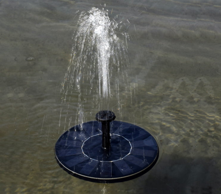 Solar Power Birdbath Fountain,Solar Panel Water Floating Fountain Pump Kit for... by