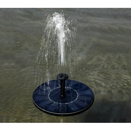 Solar Power Bird Bath Fountain Solar Panel Water Floating