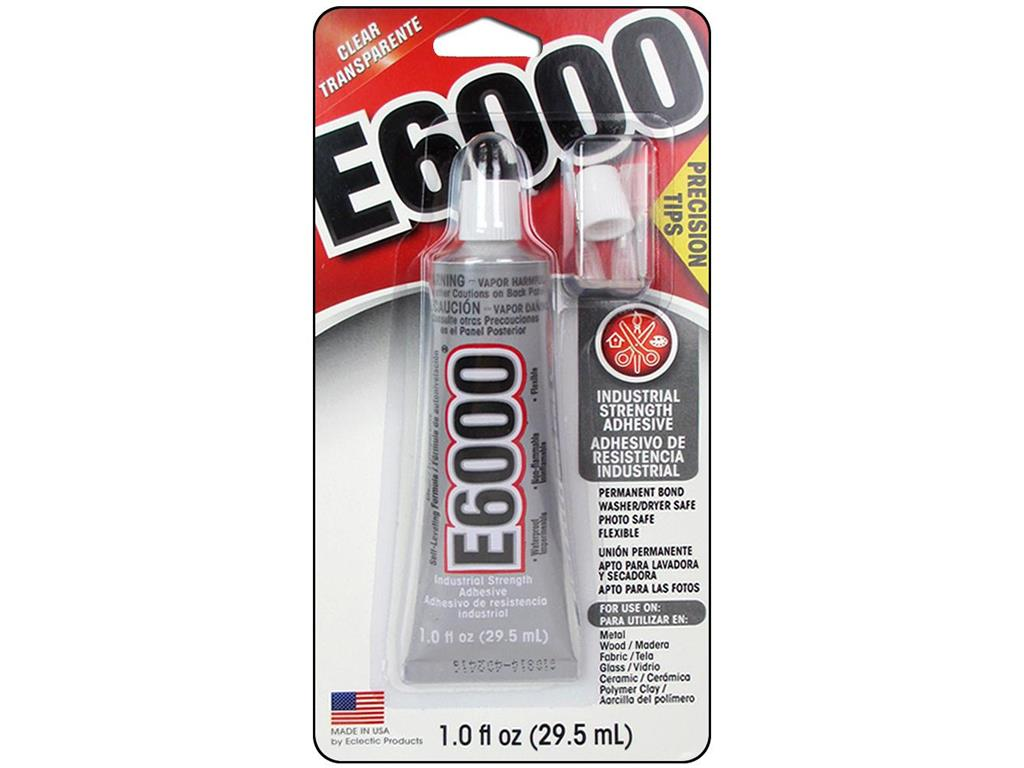 Eclectic E6000 Precision Tip Glue 1oz Card by ECLECTIC PRODUCTS INC
