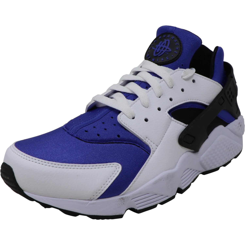 Nike Men's Air Huarache Run Se White / Black Persian Violet Low Top Leather  Running - 10M