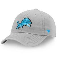 Detroit Lions NFL Pro Line by Fanatics Branded Turbo Adjustable Snapback Hat - Silver - OSFA