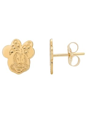 10KT Yellow Gold Minnie Mouse Earrings