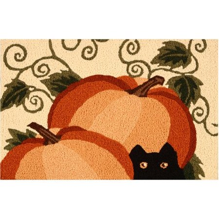 Image of Autumn Watch Indoor Outdoor Accent Rug, Constructed of a polypropylene and acrylic blend By Jellybean
