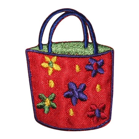 ID 8501 Flower Tote Hand Bag Patch Beach Purse Daisy Embroidered IronOn Applique