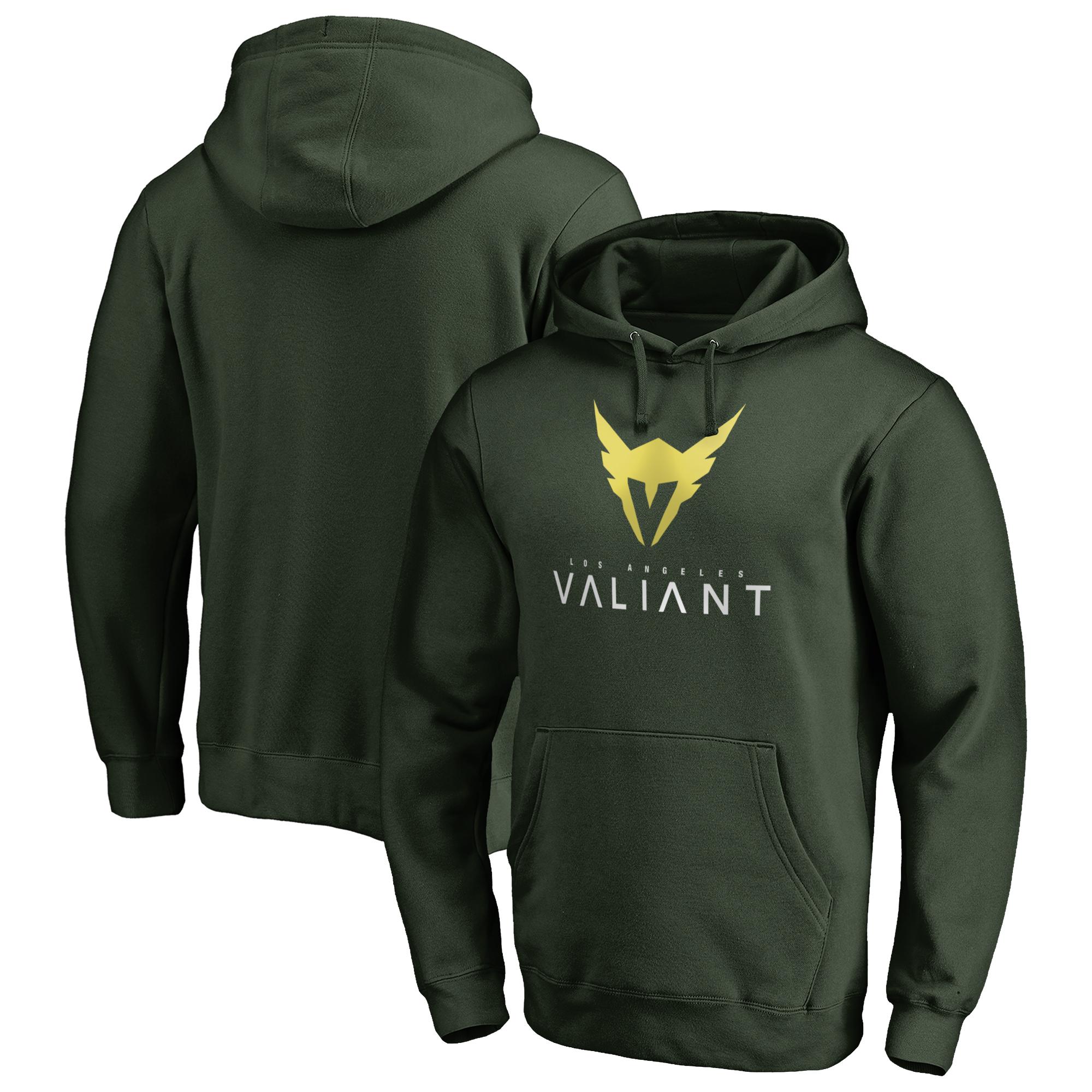 Los Angeles Valiant Fanatics Branded Team Identity Pullover Hoodie - Green