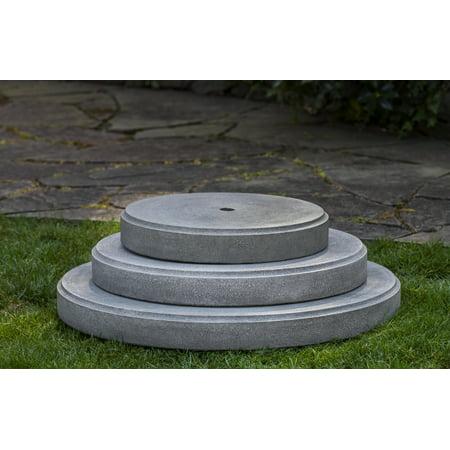 - Campania International Cast Stone Round Plinth 25 Pedestal