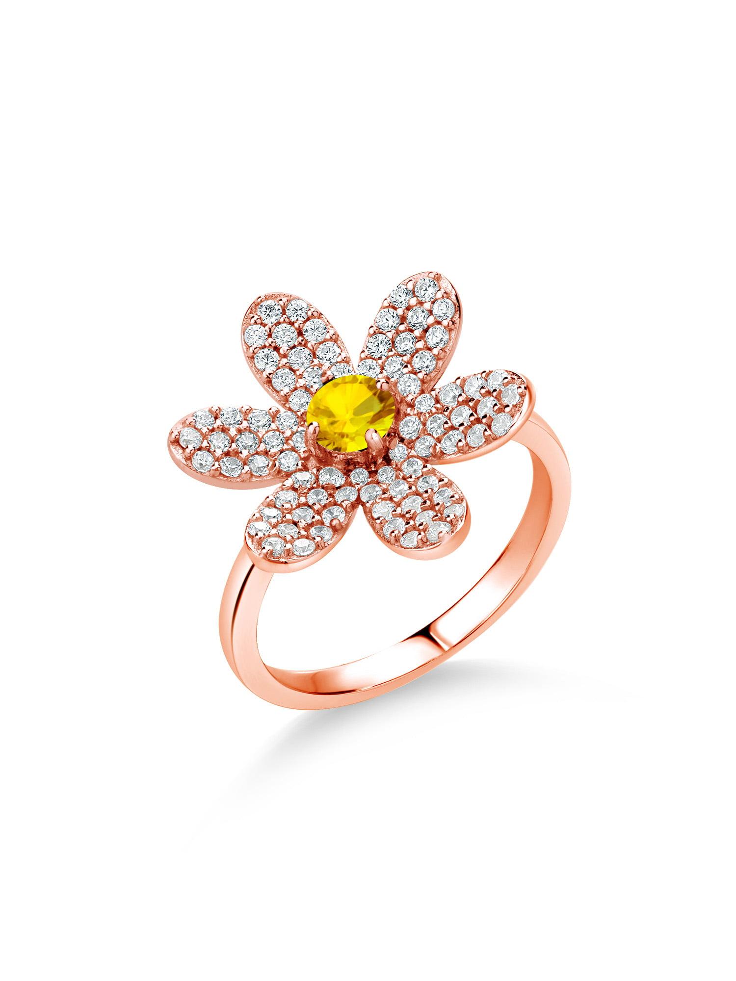 18k rose Gold plated flower ring