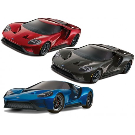 Traxxas 83056-4-BLK 1/10 Scale Ford GT Ready-To-Race TQiT 2.4GHz Radio System XL