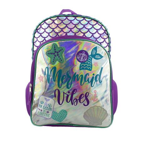 Pax Tail Bag - Iridescent Mermaid Girls School Backpack Bag B19GC42888YT