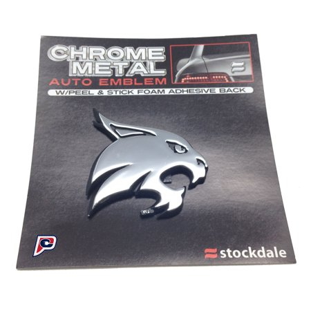 Texas State Bobcats Logo Chrome Premium Solid Metal Car Auto Emblem