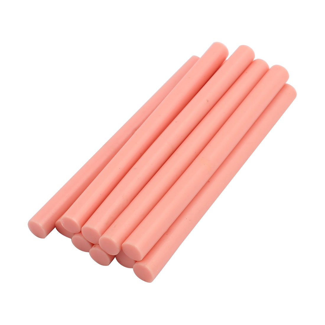 Unique Bargains10 Pcs Light Pink 7mm Dia Soldering Iron Hot Melt Glue Stick 100mm Length