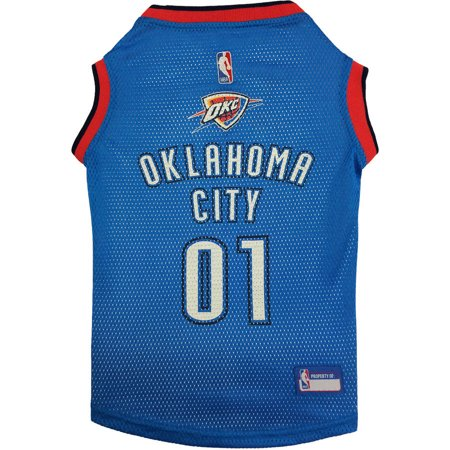 Pets First NBA Oklahoma City Thunder Basketball Dog Jersey, Available in Various - City Pets