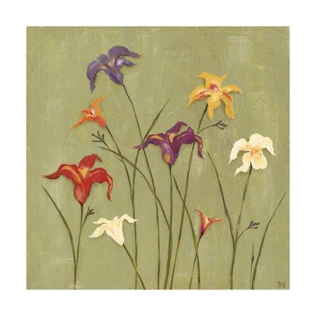 Jeweled Lilies II Print Wall Art By Jade Reynolds