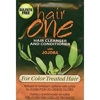 Hair One Jojoba Hair Cleanser Conditioner For Color Treated Hair .608 oz. Packettes (Pack of 6)