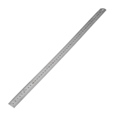 Unique Bargains Carpentry Stainless 50cm 20 Inch Straight Ruler Tool