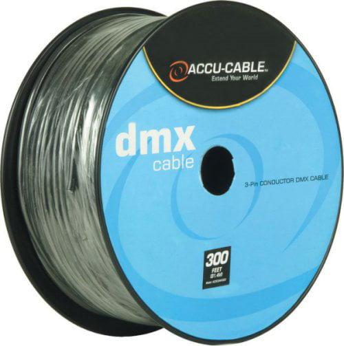 American DJ ADJ Accu-Cable 3-Pin XLR DMX Lighting Cable Bulk 300 Ft. Spool by American DJ