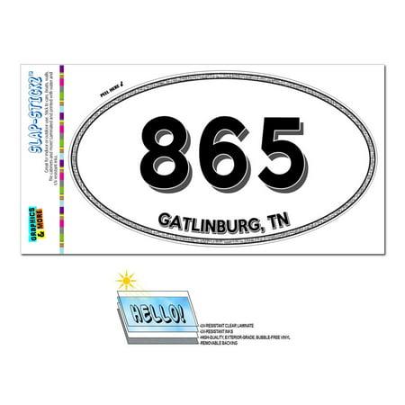 865 - Gatlinburg, TN - Tennessee - Oval Area Code Sticker