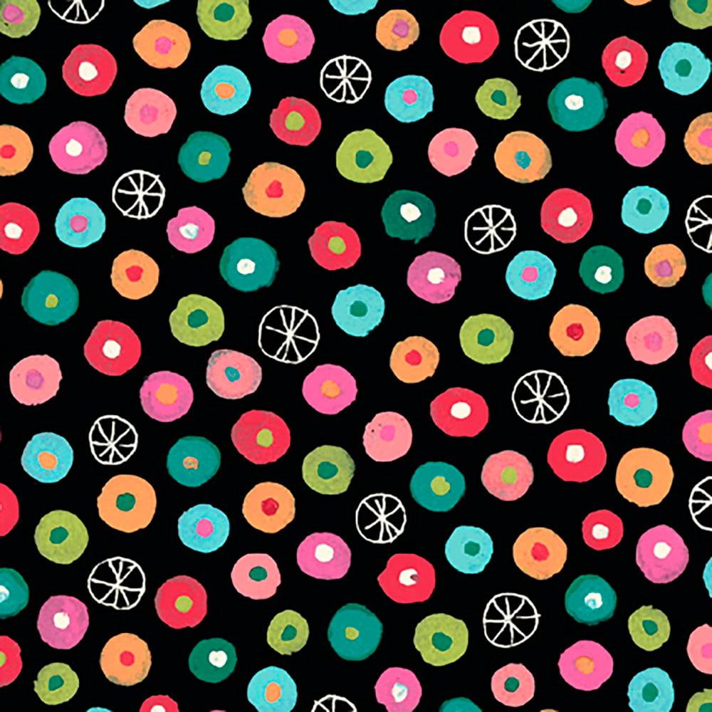 Quilting Treasures Jamboree Black Dot Geometric