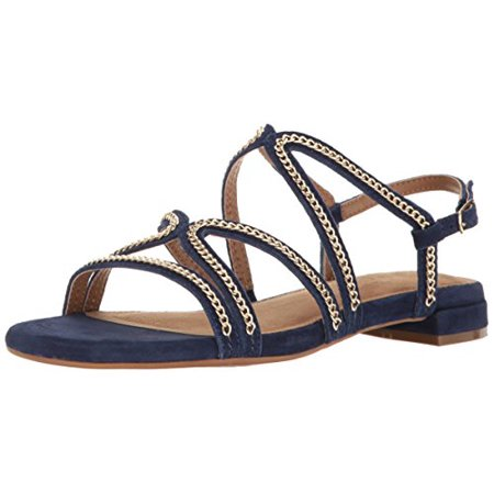 (Aerosoles Women's Downtown Flat Sandal, Blue Suede, 5.5 M US)