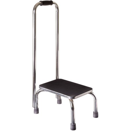 DMI Step Stool With Handle, Heavy Duty Metal for High Beds, Portable, Adults and Seniors, 300 lbs Weight