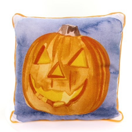 Halloween JACK O LANTERN PILLOW Cotton Pumpkin Toss Throw Home Decor 33232