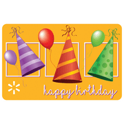 Birthday Hats Walmart eGift Card