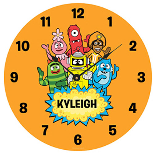 Personalized Yo Gabba Gabba! Hello Friends Wall Clock