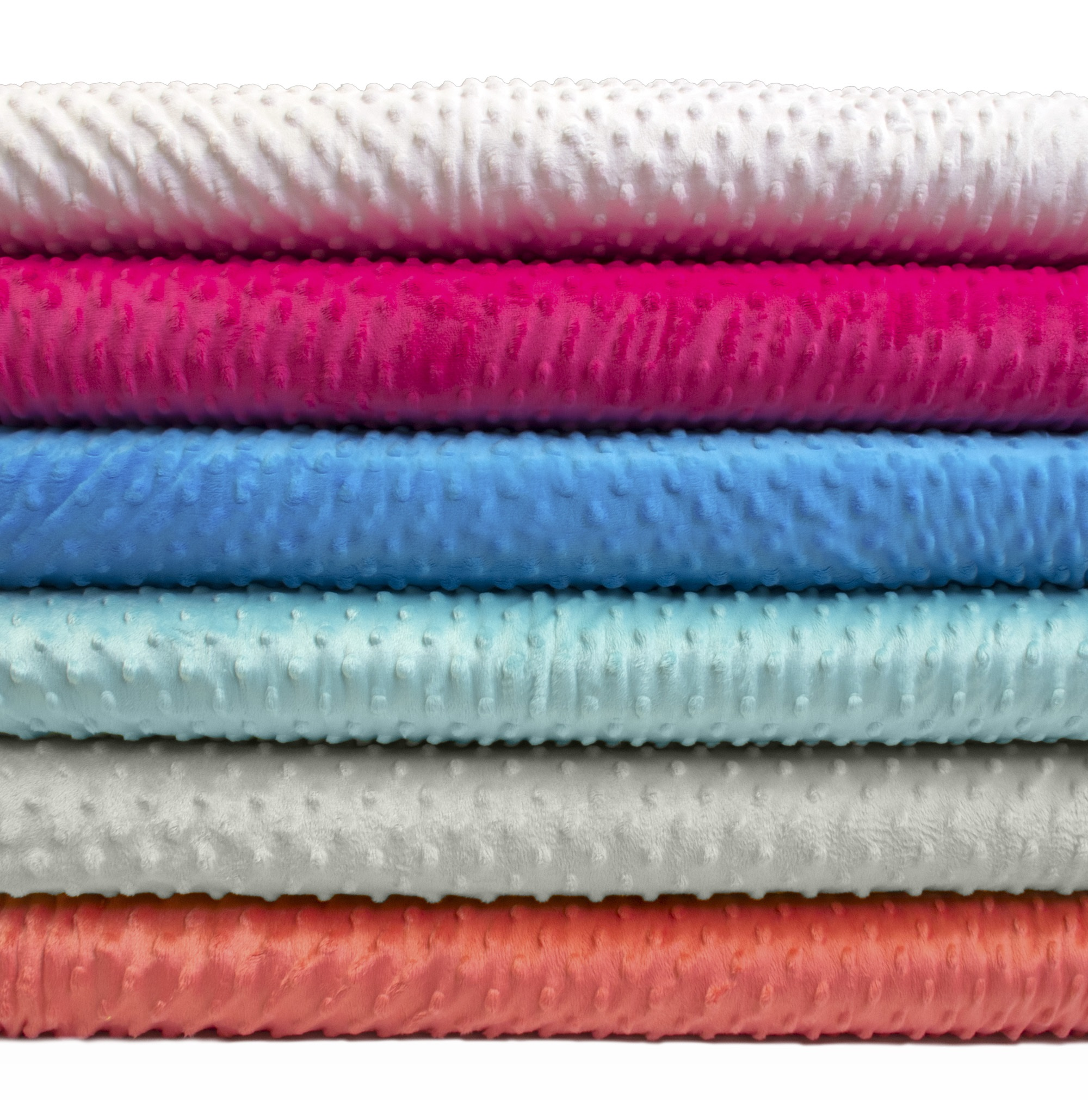 "David Textiles Polyester Fleece Plush 36"" x 60"" Dot Fabric, per Yard"
