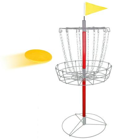 Zeny 12 Chain Portable Disc Golf Basket Practice Target Steel Disc Golf Goals