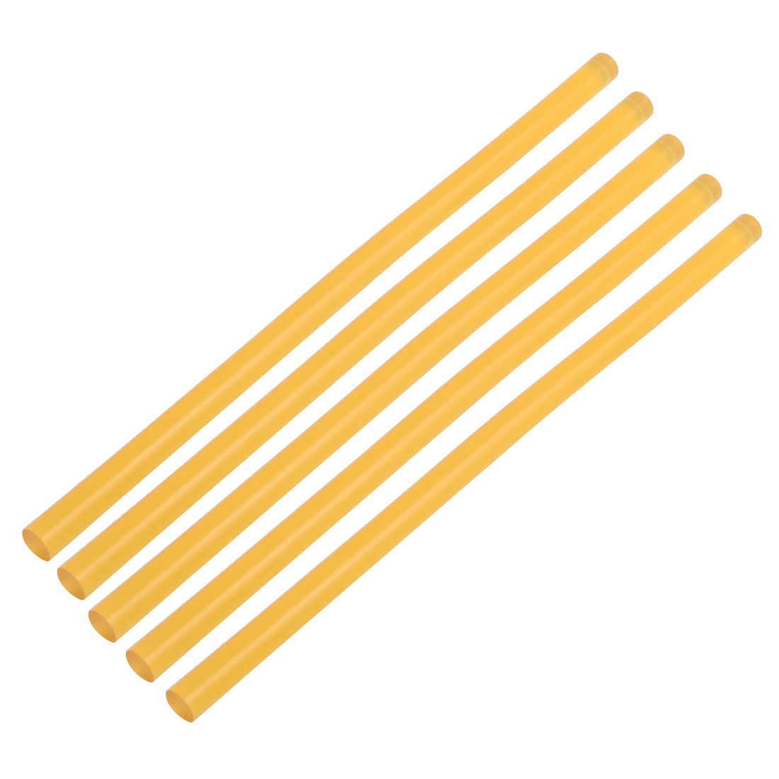 11mmx270mm Heating  Hot Melt Glue Adhesive Stick Yellow 5pcs
