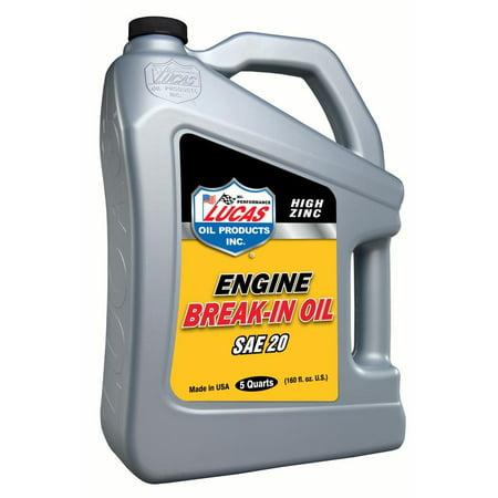 Lucas Oil 10627 High Zinc Engine Break-In Oils (Engine Break In Oil)