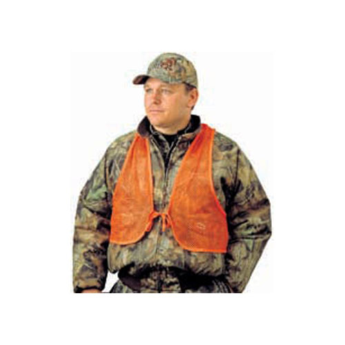 Click here to buy Adult Mesh Safety Vest, Hunters Specialties, Safety Orange, One Size Fits Most by HUNTERS SPECIALTIES INC.