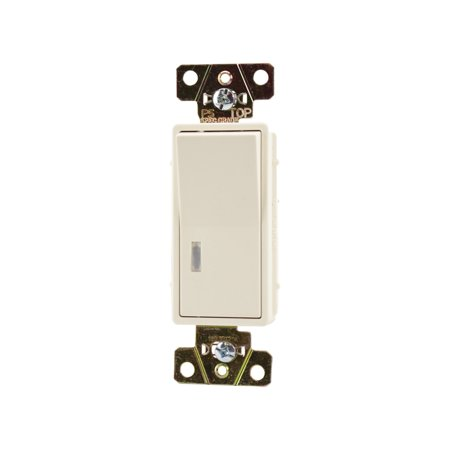 Illuminated Decorator (Pass & Seymour 2626-LA 3-Way Switch 20A 120V Illuminated Spec Grade Decorator, Light Almond )