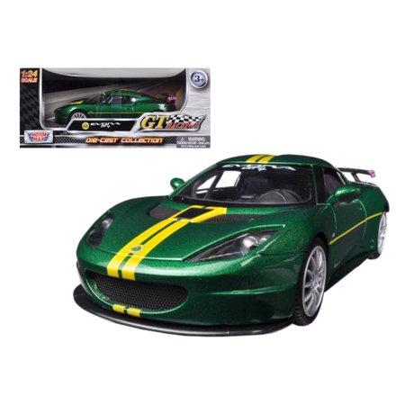 Racing Champions Green (Lotus Evora GT4 Green GT Racing 1/24 Diecast Car Model by)
