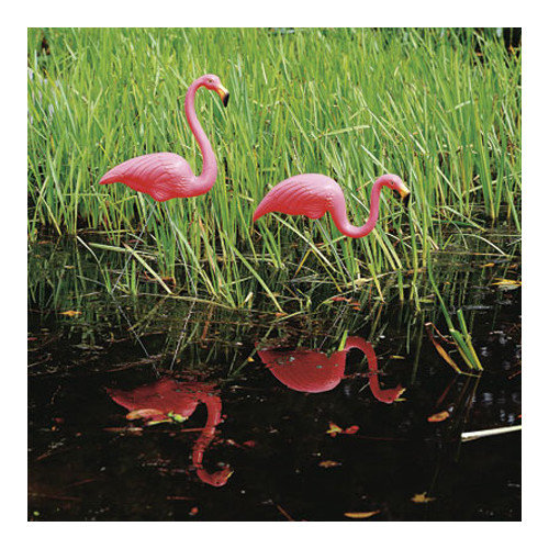 Union Products 62360 Classic Plastic Feather stone, Pink Flamingo - Pair