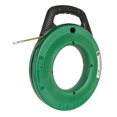 Steel fish tape 100 39 3 16 w plastic case for Fish tape walmart