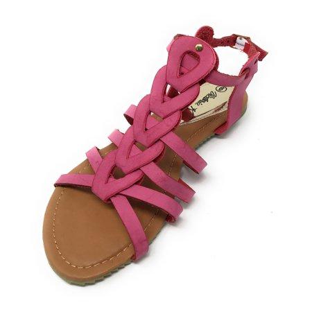 Victoria K Women's Gladiator Multi Loops Braid Sandals