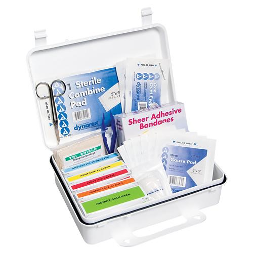Click here to buy 25 Person First Aid Kit by Custom Kits Company.