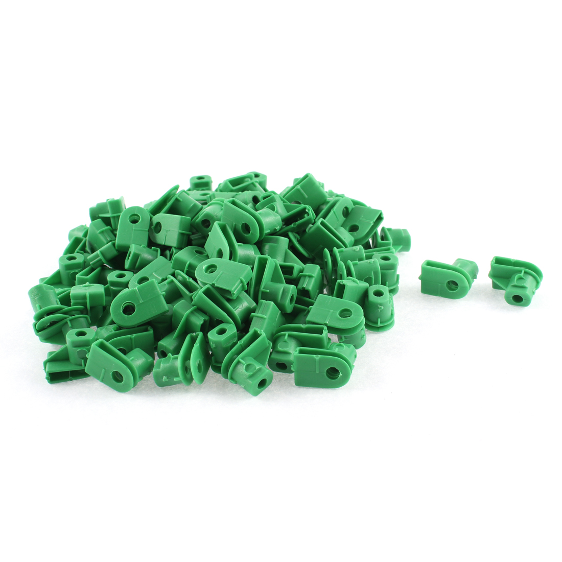 Unique Bargains 100 Pcs Green Plastic Splash Guard Defender Bumper Mat Rivet for