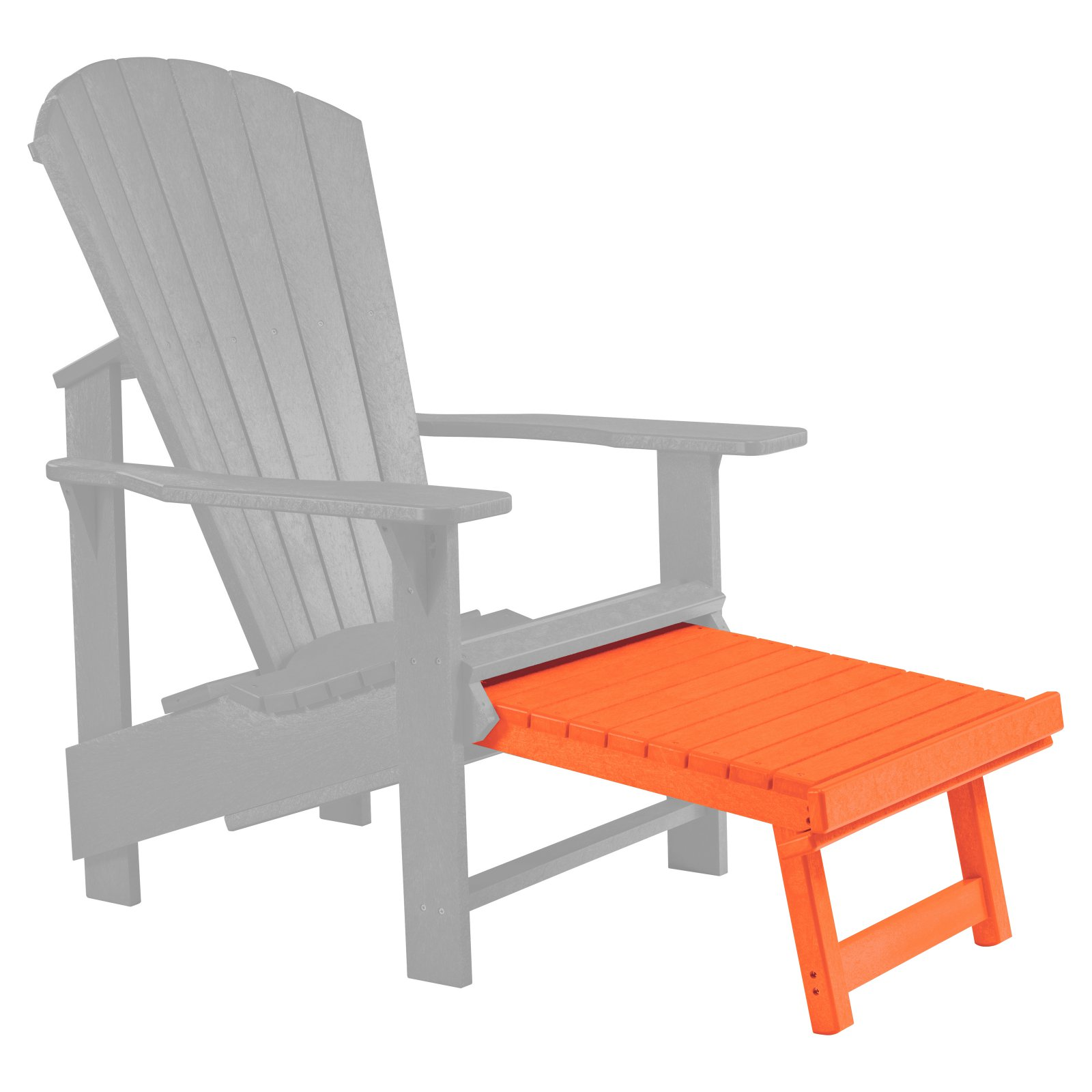 C.R. Plastic Generations Upright Adirondack Chair Pull Out Footstool    Walmart.com