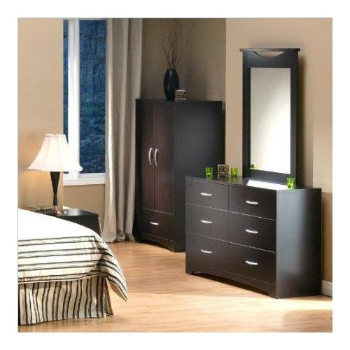 Double Dresser and Mirror in Dark Chocolate