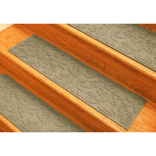 Bungalow Flooring Aqua Shield Camel Fall Day Stair Tread (Set of 4)