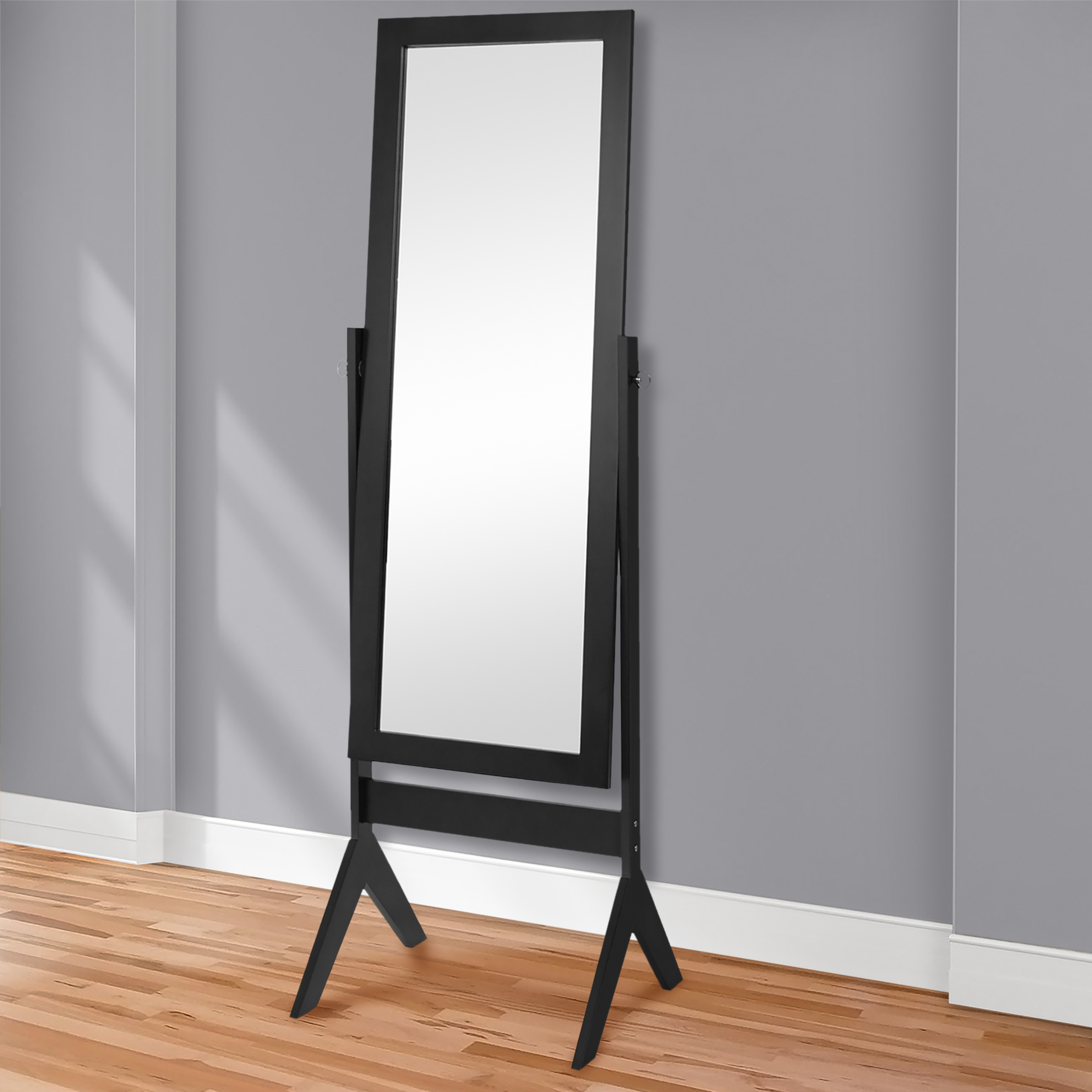 Best Choice Products Cheval Floor Mirror Bedroom Home Furniture  Black