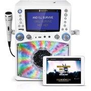 "Singing Machine STVG785BTW Bluetooth Karaoke System with 7"" Color Monitor and a Microphone"