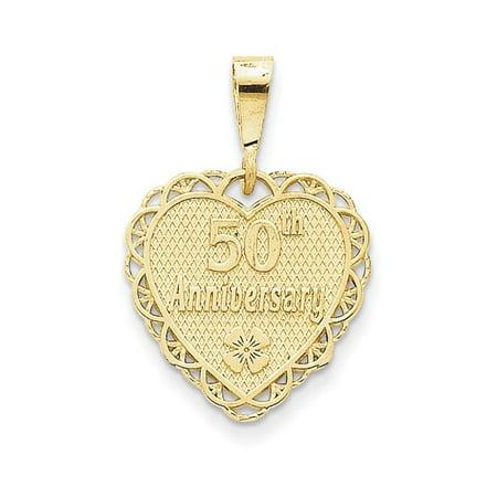 14k 50th Anniversary Charm