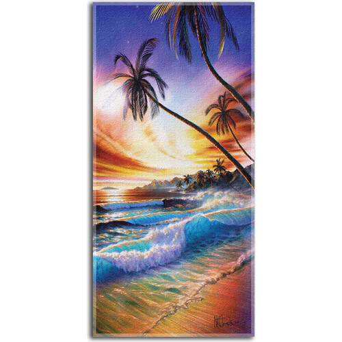 Hautman Beach Towel, Tropical Beach