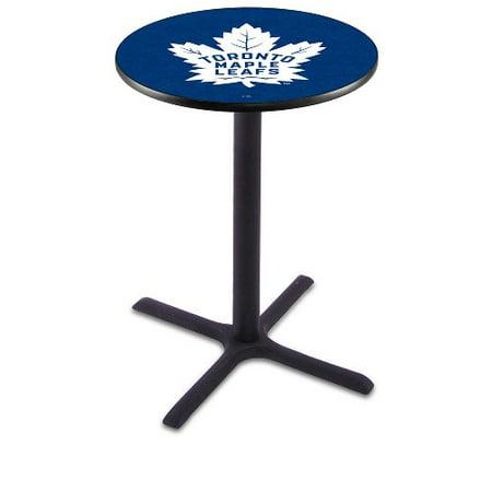 NHL Pub Table by Holland Bar Stool, Black Toronto Maple Leafs, 42'' L211 by