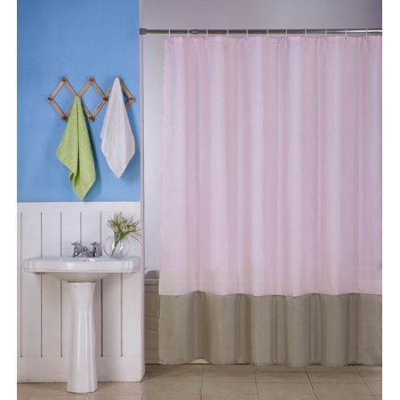 1PC (H10) LIGHT PINK TAUPE FAUX SILK 2 SHADES SOLID BATHROOM  BATH FABRIC SHOWER CURTAIN  WATER REPELLENT 72