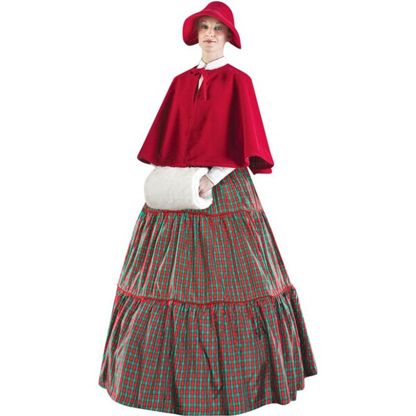 Adult Plus Size Charles Dickens Christmas Carol Checkered...