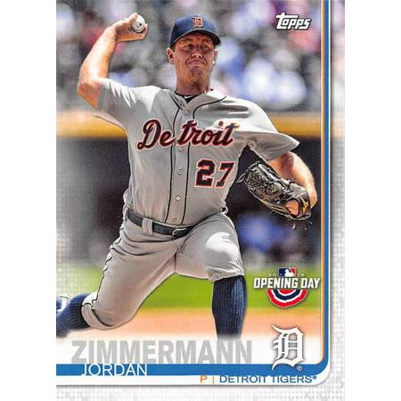 2019 Topps Opening Day #10 Jordan Zimmermann Detroit Tigers Baseball Card